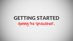 Opening the Spreadsheet Video Tutorial